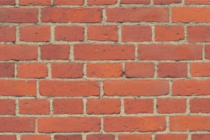 red brick wall up close